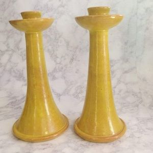 Other - Cole Pottery Handmade Fine Crafts Candlesticks